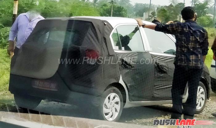New Hyundai Santro 2018 (Codename AH2) Spied Testing in India; Will Rival Renault KWID, Maruti Alto