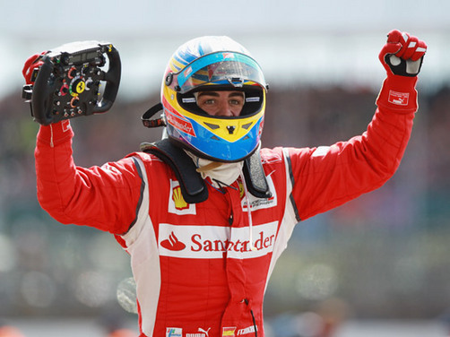 Fernando Alonso wins the 2011 British Grand Prix
