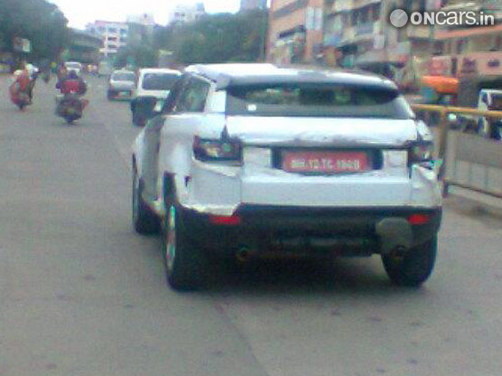 Land Rover Evoque spotted in India