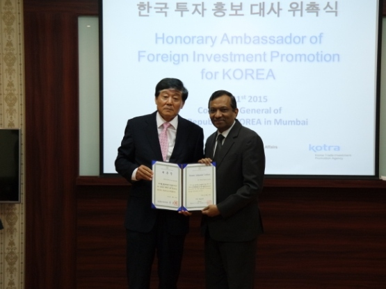 Mahindra's director Pawan Goenka appointed as the Ambassador of Foreign Investment Promotion for Korea