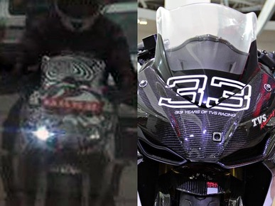 TVS Akula 310 (Apache RTR 300) Spotted in Camouflage; India Launch Soon