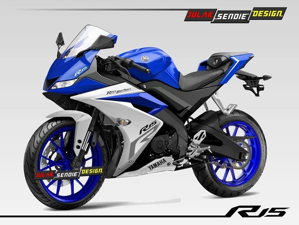 Yamaha Yzf R15 V30 Images In Multiple Angles And Colour Options