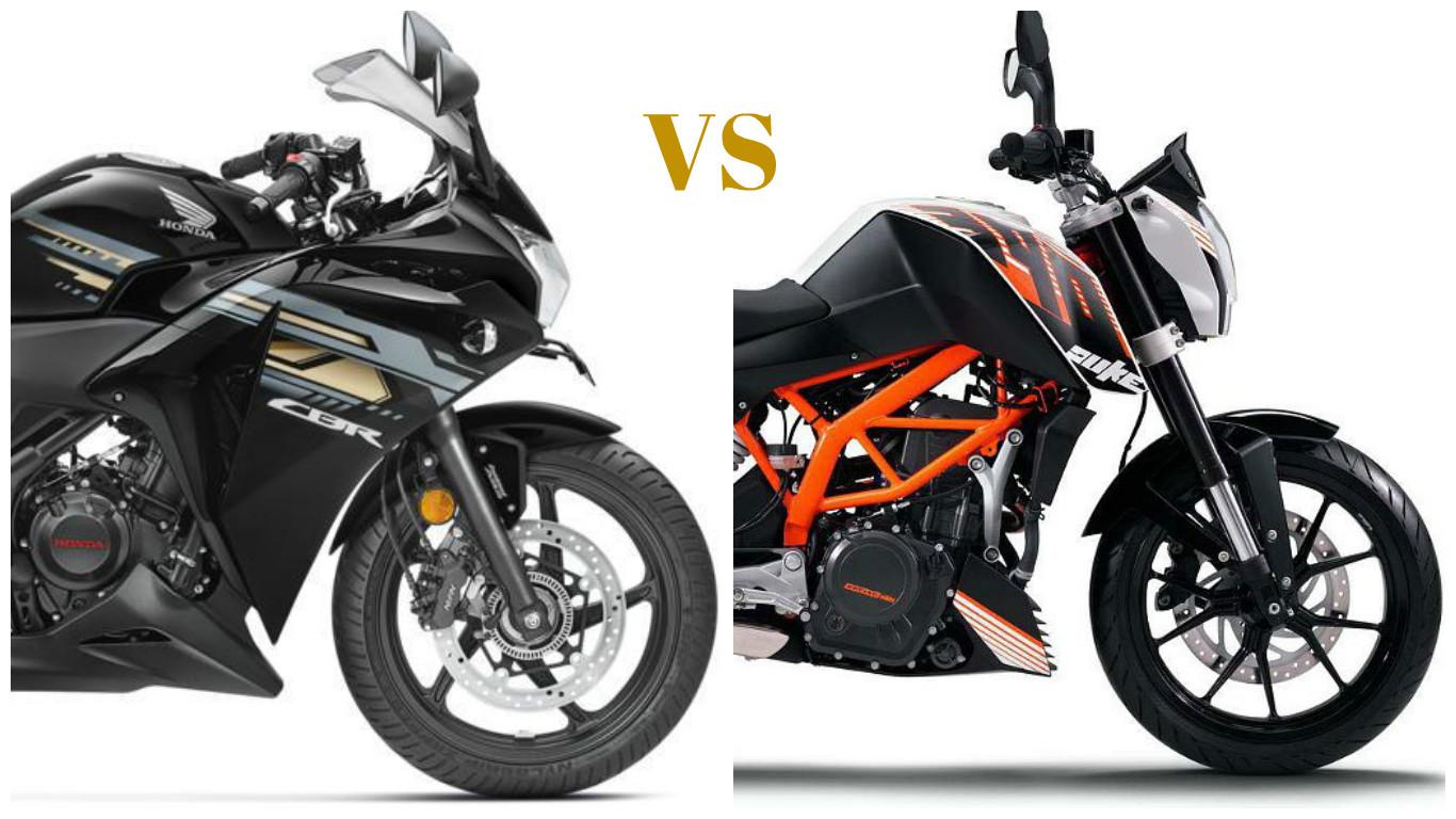 Honda Cbr 250r Vs Ktm Duke 200 Comparison News Bikes News Indiacom