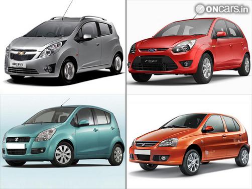 Chevrolet Beat vs Ford Figo vs Maruti Suzuki Ritz vs Indica eV2