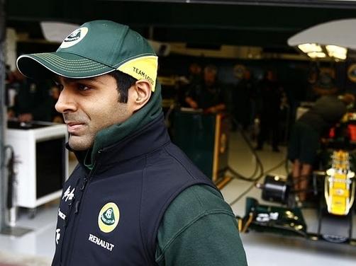 Karun Chandok in the racing seat this weekend