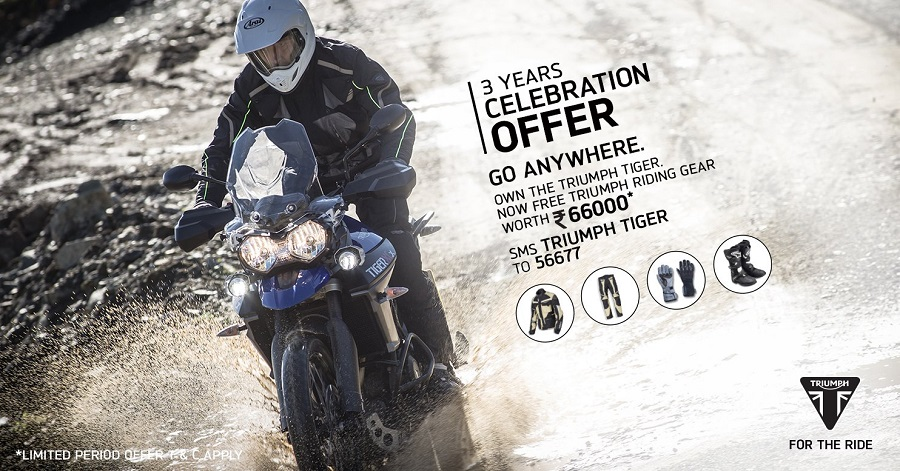 Now Get Riding Gear Worth Inr 66000 Free With A Triumph Tiger
