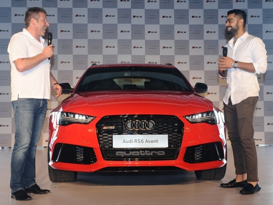 Cricketing star Virat Kohli along with Audi head Joe King Unveils the new Audi RS6 Avant