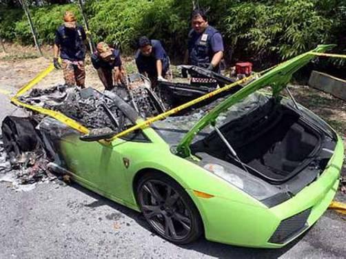 Lamborghini Gallardo put up a fiery act