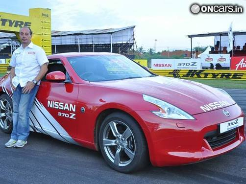 Excitement at Nissan's 370z stunt show in Chennai