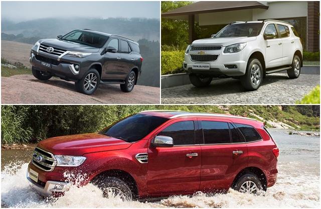 All-New Toyota Fortuner vs Ford Endeavour vs Chevrolet