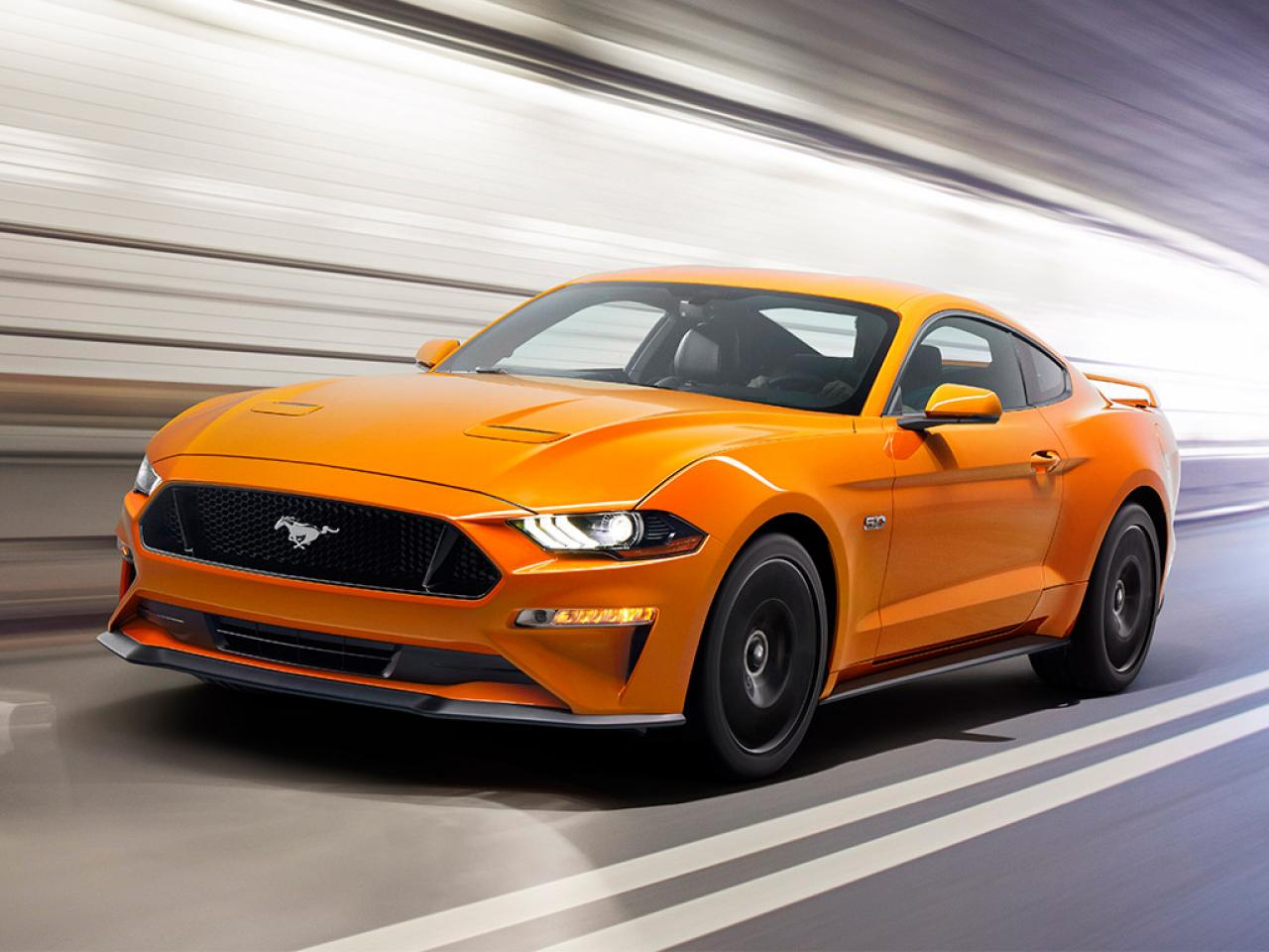 2018 ford mustang breaks cover; gets more power and a new 10-speed