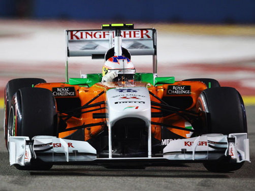 Double points finish for Force India at Singapore GP