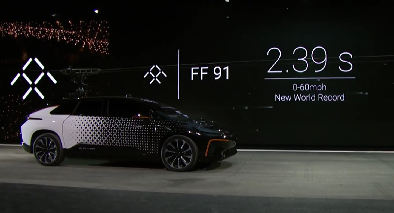 Faraday Future Ff91 World S Fastest Electric Car Revealed At Ces 2017 Bookings Open In Us