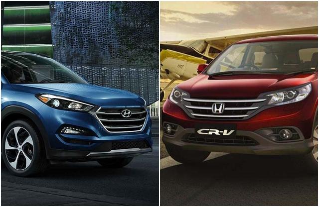 Hyundai Tucson 2016 Vs Honda Cr V Price Mileage And Other Details