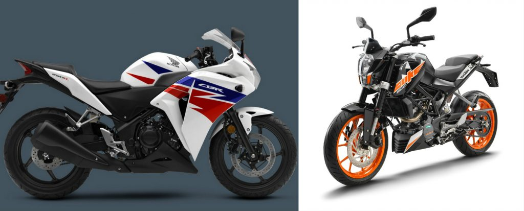 2017 Ktm 200 Duke Vs Honda Cbr 250r Price Feature And