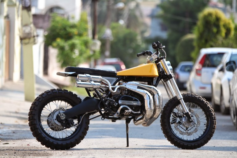 This modified Yamaha RD350 'Eight' Scrambler will indeed