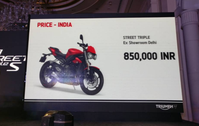 Live 2017 Triumph Street Triple 765 S Launch Updates Priced In