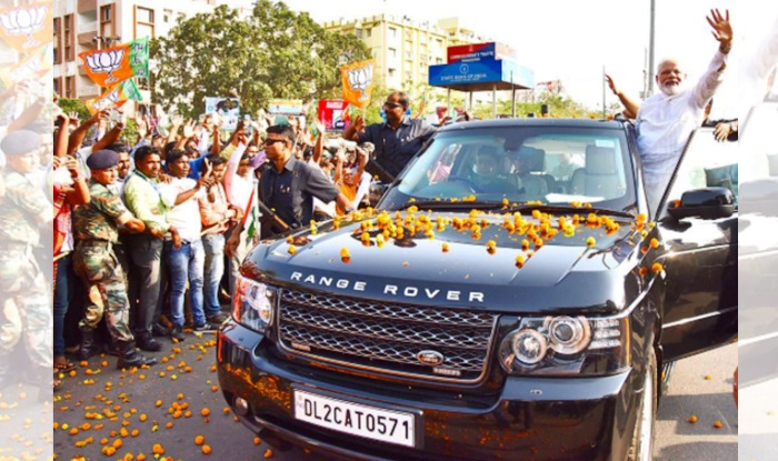 Narendra Modi Drives In Land Rover Range Rover Hse For