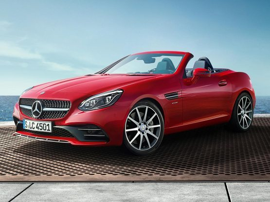 Mercedes AMG SLC 43 Exterior In Terms Of Appearance, The Front End Of The  Upcoming Mercedes Gets A Class Inspired Diamond Grille As Well As A  Redesigned ...