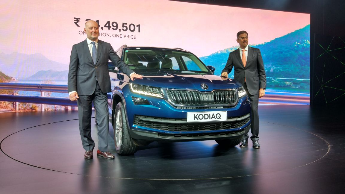 Skoda Kodiaq Launched; Price in India Starts at INR 34.49 Lakh