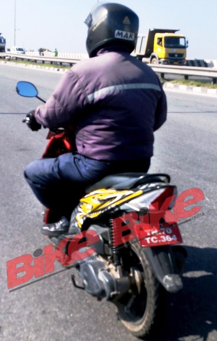 TVS Dazz Spied Testing in Hosur - rear