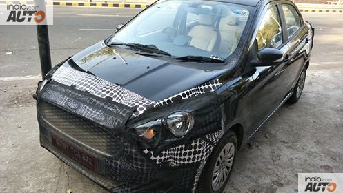 New Ford Aspire 2018 Facelift Spied Upclose; India Launch, Interior, Price, Features