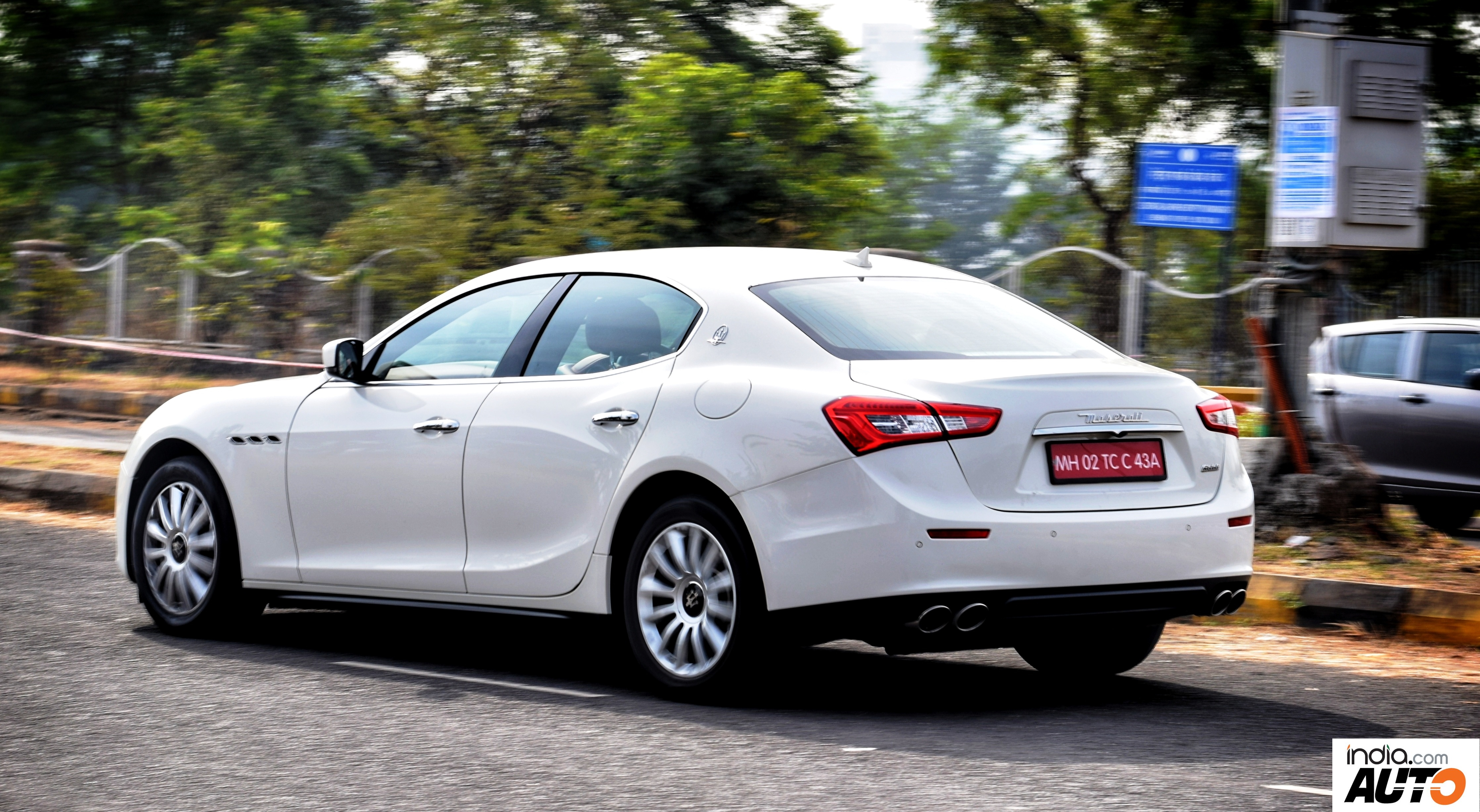 Maserati Ghibli in Action - Rear Quarter