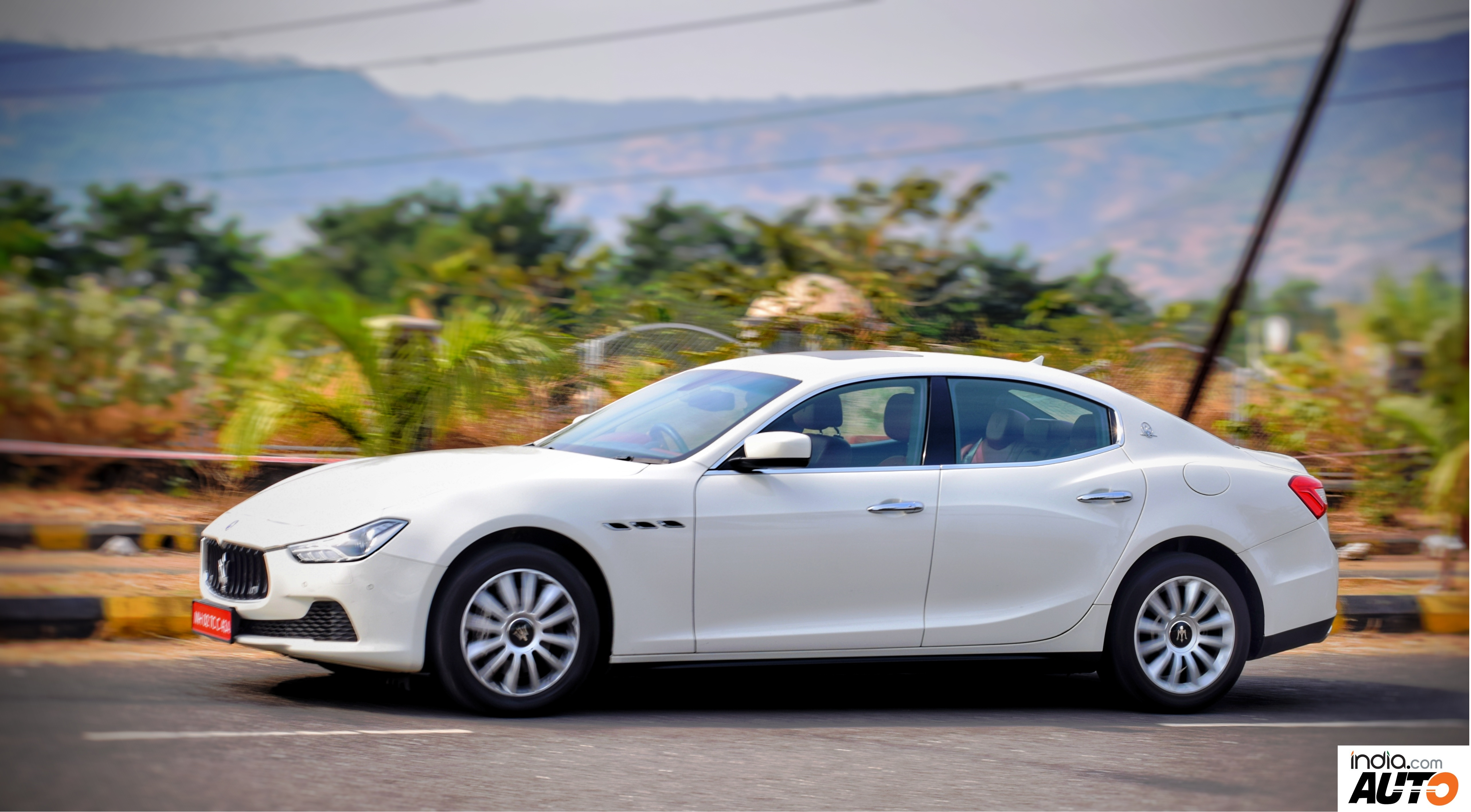 Maserati Ghibli in Action - Side Profile