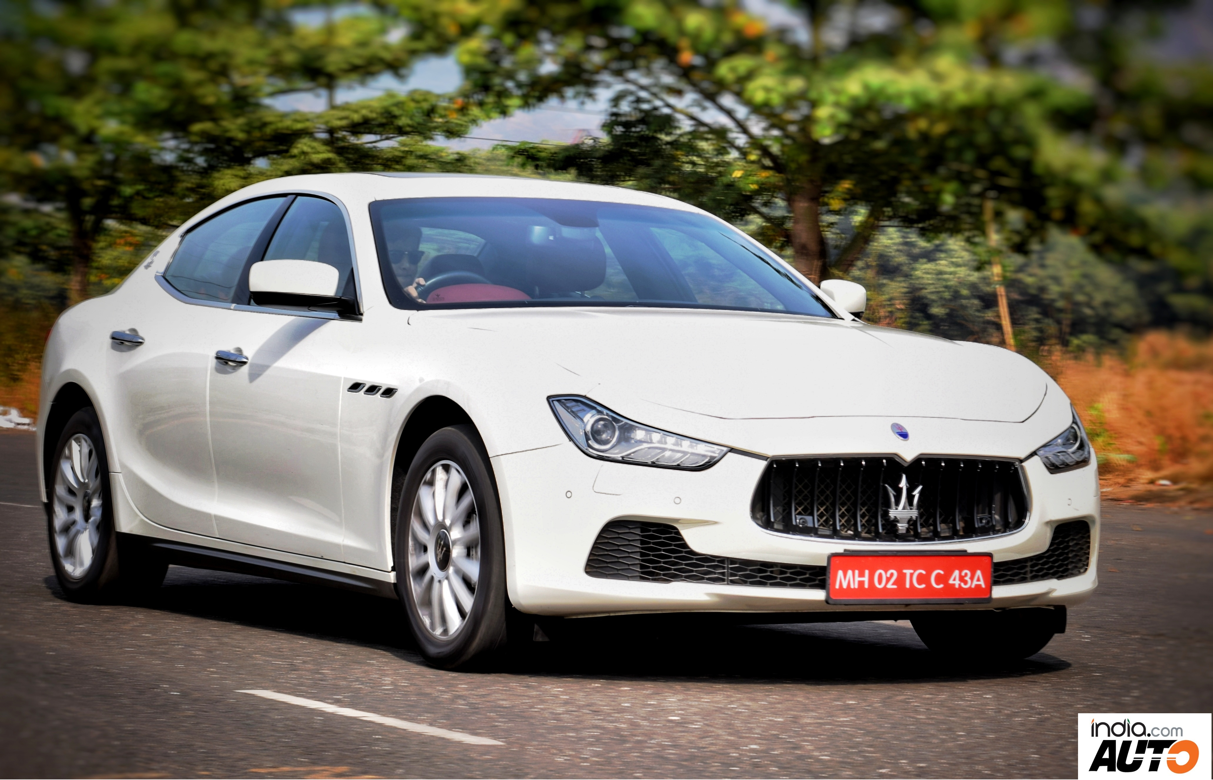Maserati Ghibli in Action - Front Quarter
