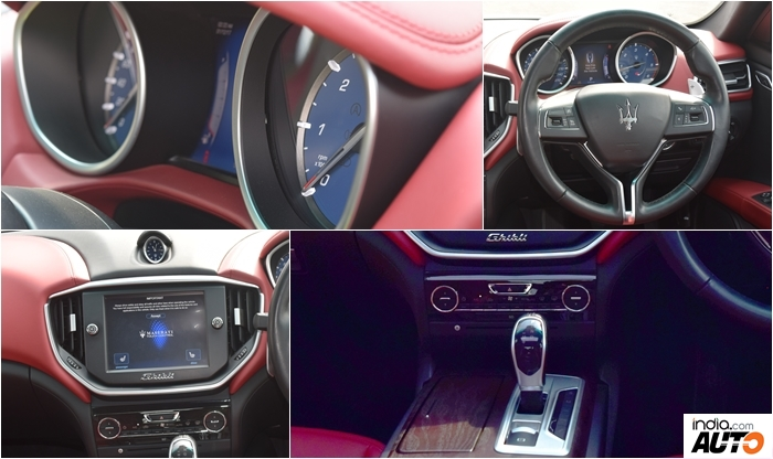 Maserati Ghibli Interior Collage