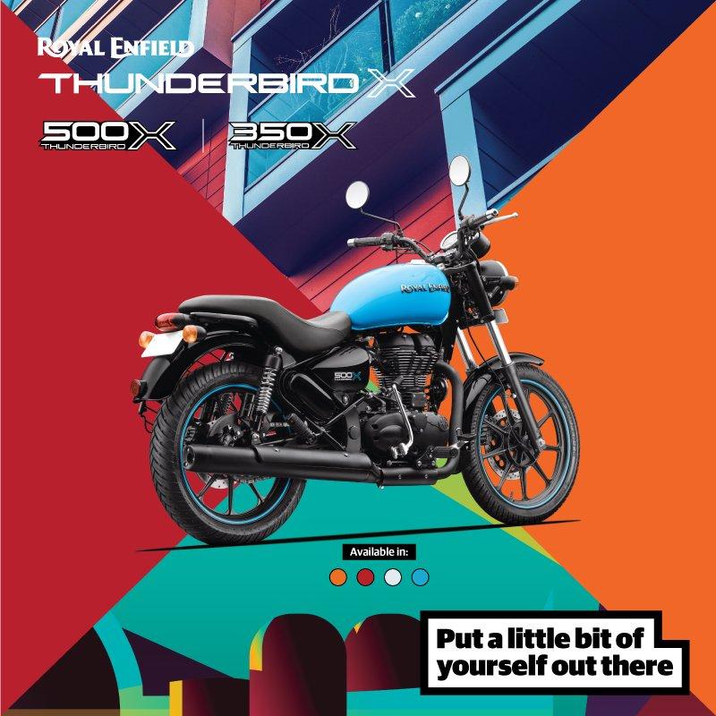 Royal Enfield Thunderbird X drifter blue official