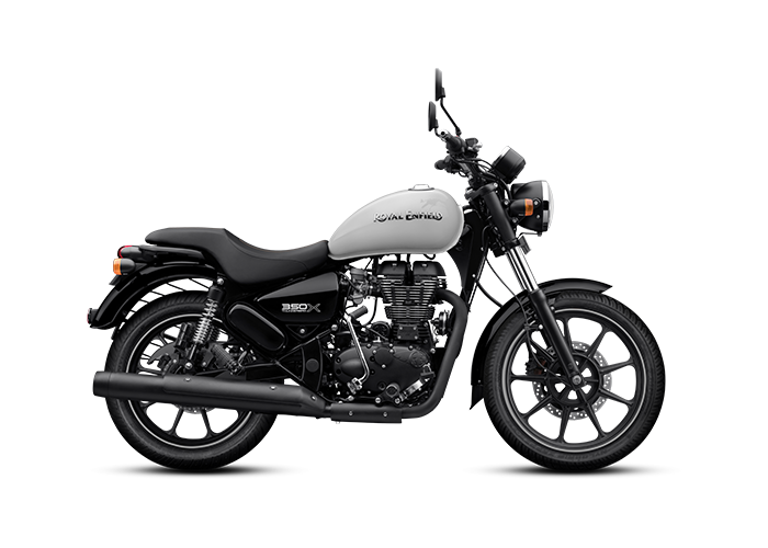 Royal Enfield Thunderbird X Whimsical White Side Profile