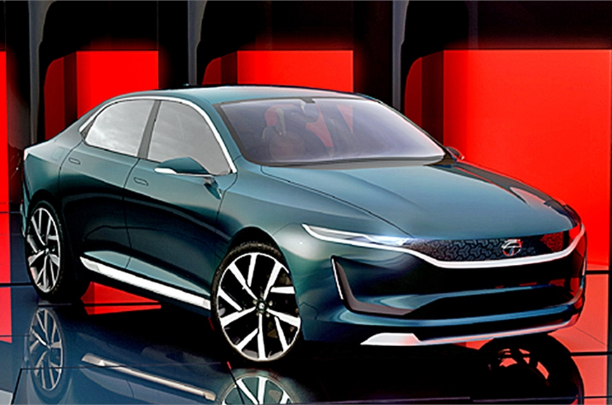 Tata EVision Electric Sedan Concept Unveiled Alongside H5X SUV & 45X Hatchback at Geneva Motor Show 2018