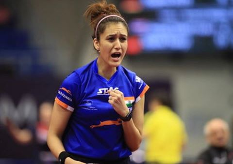 Manika batra after winning game