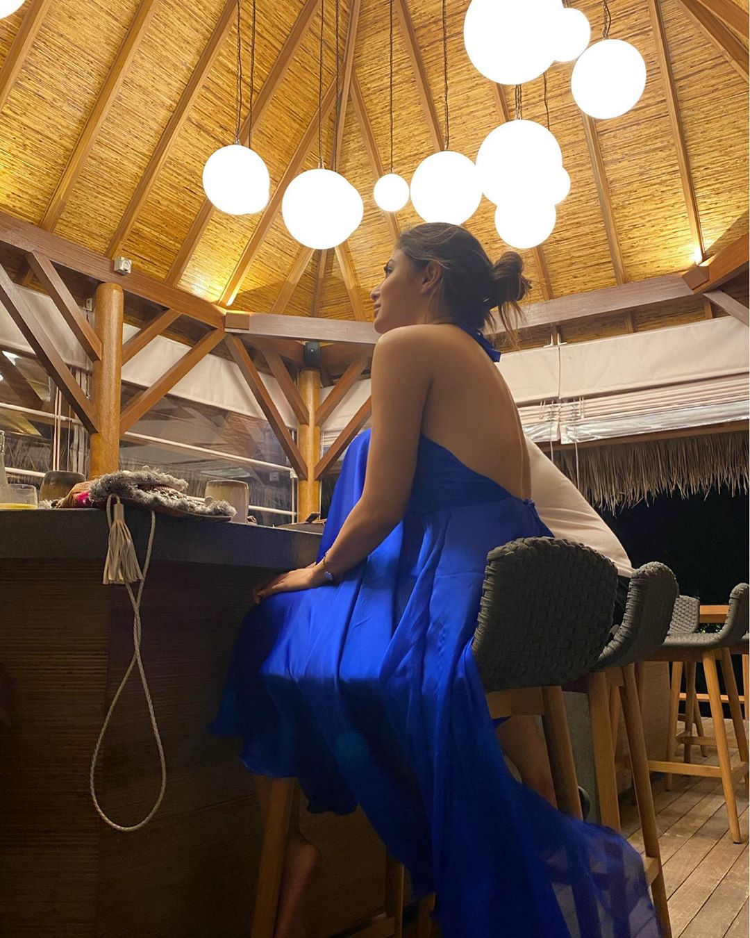 Mouni roy in blue gown