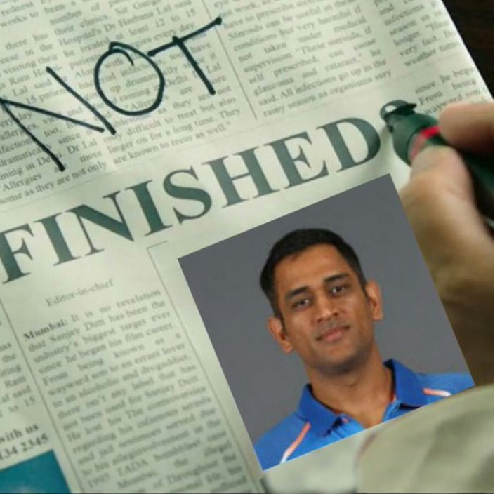 MS Dhoni not Finished