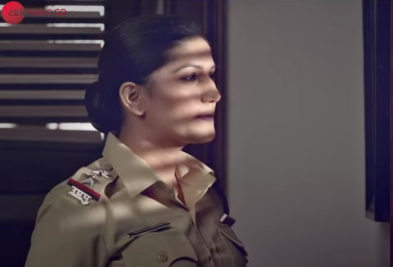 Sapna Choudhary As Cop