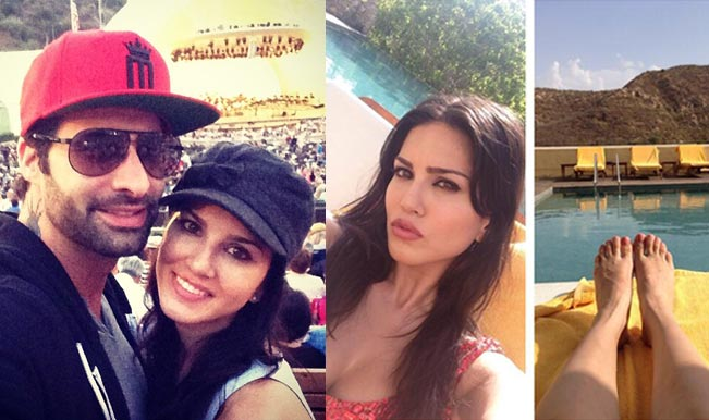 Sunny Leone with her husband Daniel Weber