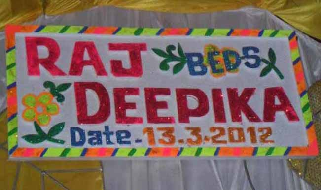 OK, I am sure Raj will be doing that but to write it, decorate it and give the date too seems little odd