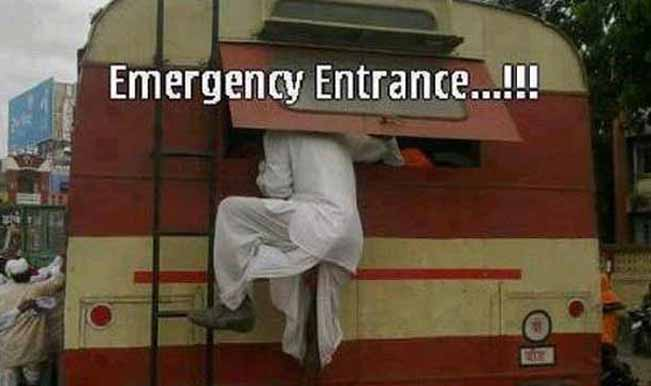 So, is this man making an entry or exit