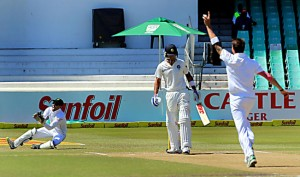 South-African-cricketers-celebrate-the-fall-of-Indian-batsman-Virat-Kohli`s-wicket-during-the-5th-Day-of-the-Seco