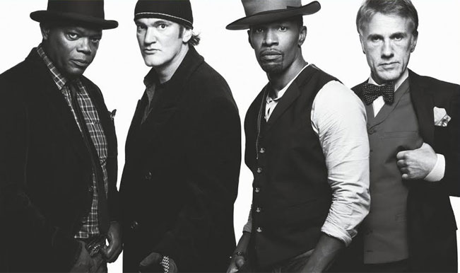 Tarantino with Django Unchained cast
