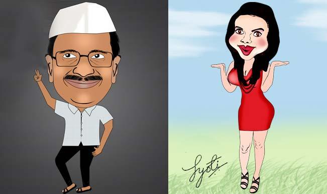 Arvind Kejriwal and Rakhi Sawant