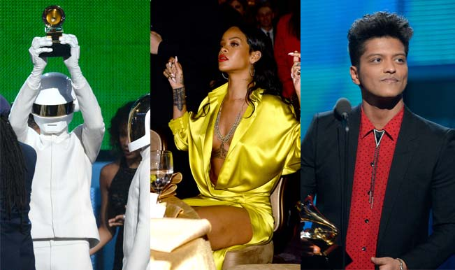 Daft Punk, Rihanna and Bruno Mars at the Grammy Awards 2014