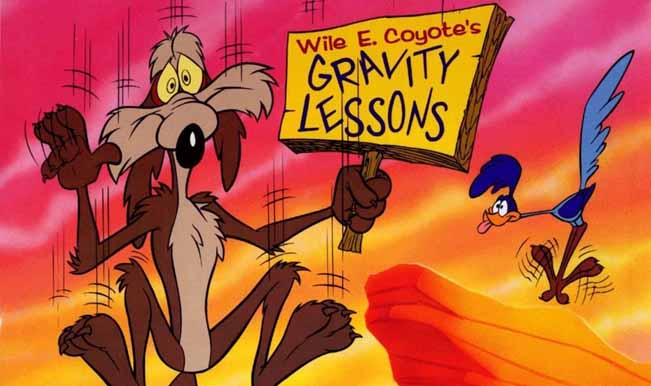 Gravity doesnt work till you look down – Roadrunner Coyote