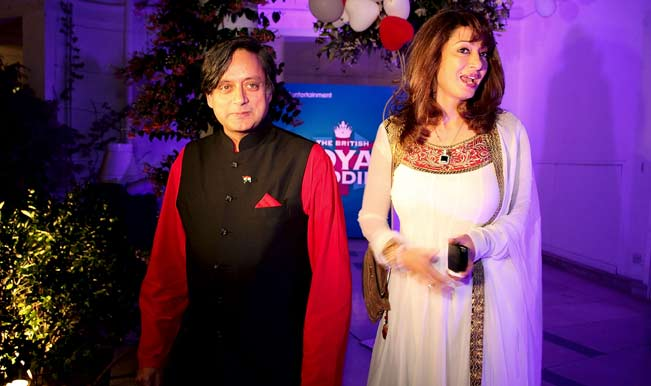 Agent Tharoor with his wife
