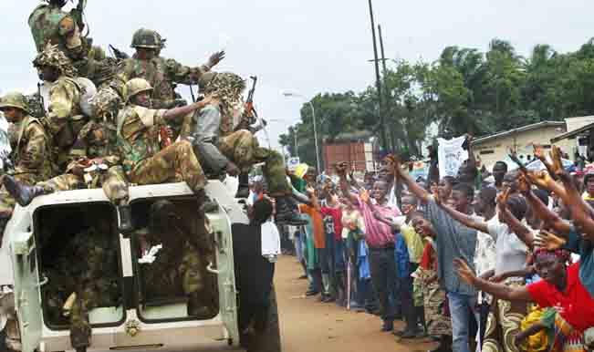 Liberians Greet Peacekeepers In Monrovia
