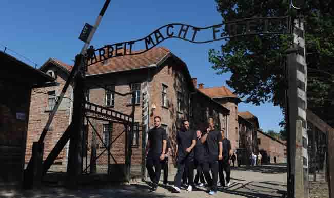 England Team Visit Auschwitz Memorial Ahead Of Euro 2012