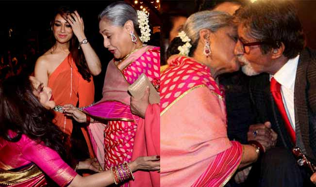 Rekha Latest News Photos Reviews: Rekha-meets-Jaya-Bachchan-Amitabh-Bachchan