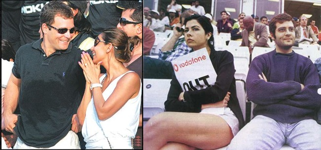 Rahul with his ex-girlfriend